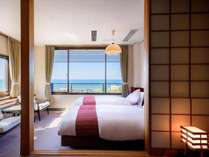 日本海を望む大パノラマの和洋室