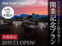 2019年7月1日オープン!熊本城が一望できる市内中心部☆開業記念特別プラン(食事なし)