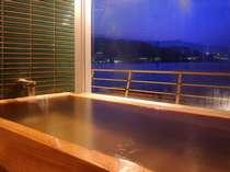 半貸切展望風呂「望洋」2~3名用 夕景。予約制ではありません。
