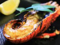 「伊勢海老の鬼殻焼き」。ぷりっとした食感が最高です。