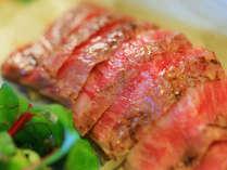 素材にこだわる和牛のステーキ。こちらはプランか追加料理にて承ります。