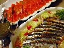 ご夕食バイキング 【一例】さっぱりとしたマリネやカルパッチョはお酒の肴や前菜としても◎