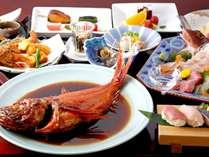 地物刺身盛・金目鯛の煮付け&海浜料理DX*