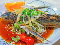 *【夕食一例】飛魚のカルパッチョ風。さっぱりしていて好評です!