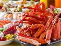 ◆2種類選べる特典付◆牛肉の鉄板焼き、かに、お寿司など豪華ディナーバイキング&温泉満喫♪