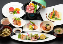 <夕食>熊本県産あか牛陶板焼き&高菜飯付の絶品会席料理