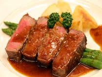 サーロインステーキの和風ソース(夕食・一例)