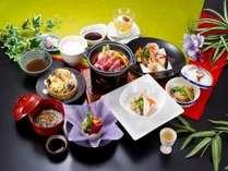 「三元豚の陶板焼き」が付いたご夕食コース(一例)