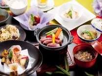 「三元豚の陶板焼き」が付いたご夕食コース(イメージ)