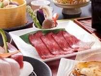 「福島牛の焼きしゃぶしゃぶ」が付いた彩響の膳(ご夕食のイメージ)