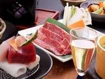 「ふくしま煌牛のしゃぶしゃぶ」が付いた輝楽の膳(ご夕食のイメージ)