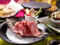 福島牛の溶岩焼き(ご夕食のイメージ)
