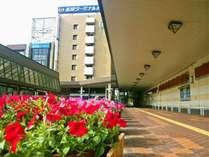 長岡駅前からホテルへ徒歩1分。