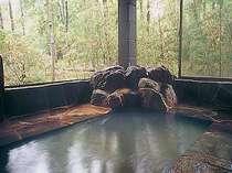 本館のお風呂。100%天然温泉で貸切もできるよ。