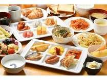 朝食一例(メニューは一部日替わりでご用意しております。)