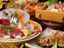 ◇三国港の地魚を存分に♪『地魚料理コース』+ほやほやバイキング(H27.3.23~7.17)