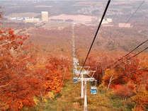 ゴンドラで紅葉を楽しむ!前森山の山頂から望む八幡平は絶景です。