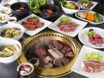 焼肉レストラン李朝苑の焼肉テーブルバイキング