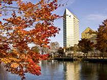 ホテル安比グランド秋の外観