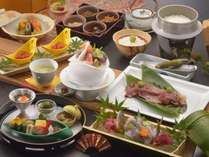 『伊豆会席』A5和牛の炙り寿司や地元の食材を使ったお料理を堪能(写真一例、和牛等2名盛料理あり)