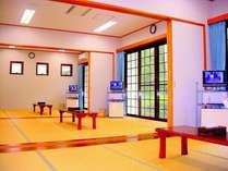 10畳のお部屋が3室つないでいる他 4部屋にプライベート空間もお作りする事が出来ます。