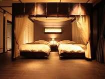 全国初!の全室天蓋ベッドでおもてなし