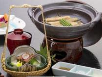 穴子料理一例<柳川風鍋・有馬煮>