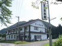 新しい建物ではありませんが、故郷の実家に戻ったようなのんびり感と、日本の山村風景がまってます