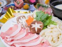 *霧降高原豚の豆乳しゃぶしゃぶ会席/たっぷりのお野菜と栃木県産の豚肉をヘルシーな豆乳鍋で