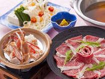 和牛しゃぶしゃぶと蟹の陶板焼き両方を楽しめるプランが登場☆