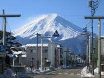 ホテル前絶景富士