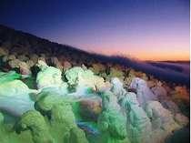 【樹氷ライトアップ鑑賞付プラン】 ~蔵王の夜の樹氷鑑賞にお連れいたします~ ぜひ見るべき神秘の絶景!