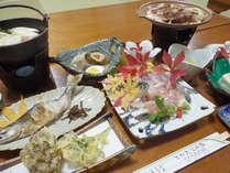 *【夕食例】十和田の山川の幸を楽しめるお食事です。