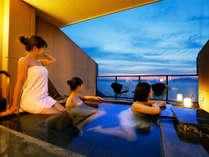 【グランドオーシャンズ】テラス露天風呂から眺める景色はまさに絶景
