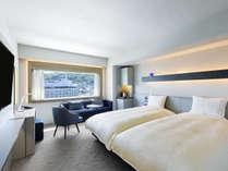 【客室】デラックスツイン/30平米/こちらのお部屋タイプは全室函館山側を向いております。(2名様)