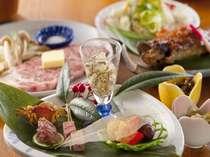 【夕食】温泉のあとは、おまちかねの夕食を(一例)
