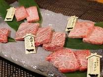 飛騨牛5部位による【食べ比べプレート】