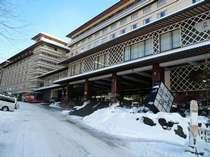 【冬】石水亭も雪化粧。大雪も北海道の風物詩