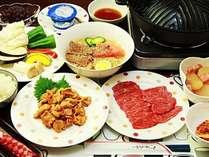 【焼肉セット+冷麺】雫石牛と地元の旬の新鮮野菜で大満足♪盛岡冷麺も召し上がれ^^