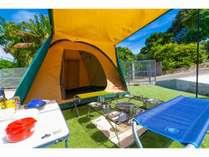 キャンプ用品も揃えていますので、気軽にキャンプができます