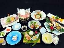 ご夕食【創作和食会席~松~】※季節によりお料理内容は変わります。(※イメージ)