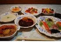 地域の食材でディナー
