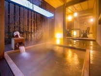 ■温泉の露天風呂 山吹