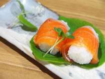 信州サーモンのお寿司