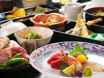 【千種会席】海の幸の盛り合わせや天ぷらなど彩り豊かなお料理の数々!