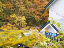紅葉に囲まれた静かな温泉宿