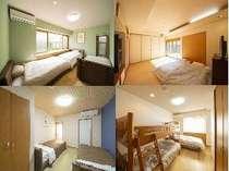 一棟貸しプランの宿泊は4部屋からお選びいただけます。