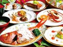 【まるまる一本の金目鯛の姿煮と選べる伊勢海老料理と鮑の焼物】24時間無料貸切温泉★アウト12時★朝食なし