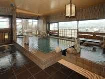◆【大浴場】絶景!男性内湯。男女別にサウナ・水風呂あり。ランドリーコーナーも併設しております。