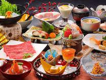 【山形牛すきやき】米沢牛に肩を並べる山形牛のすきやきを半熟卵で。※旬の素材により料理内容異なります
